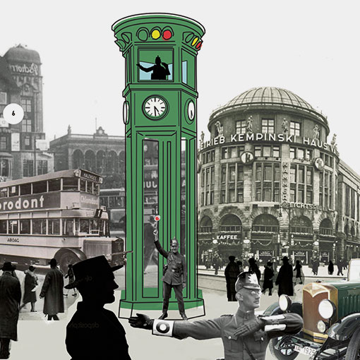 The first traffic lights in Berlin