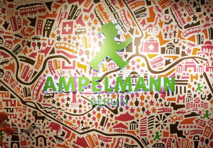 Berlin Souvenirs von AMPELMANN - Stadtplan