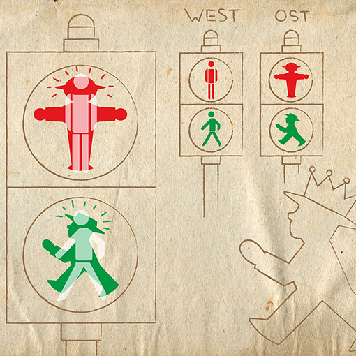 Safer: The plump little East German Ampelmännchen