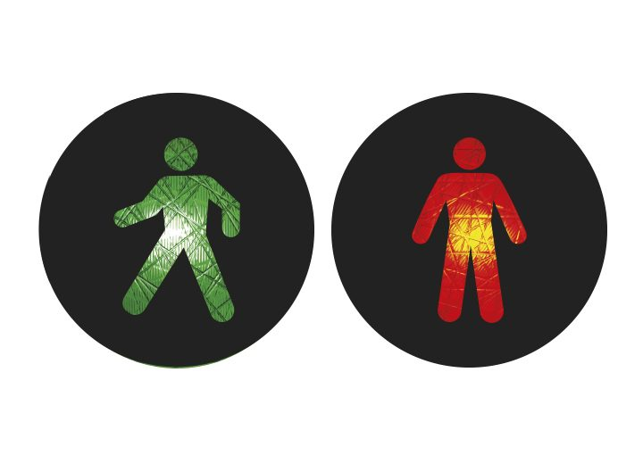 Internationale Ampelmännchen Brasilien