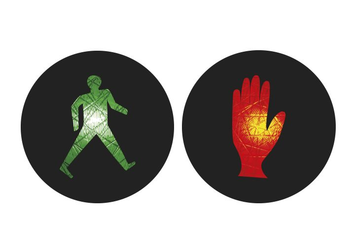 Internationale Ampelmännchen Kanada