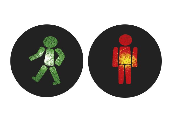 Internationale Ampelmännchen Polen