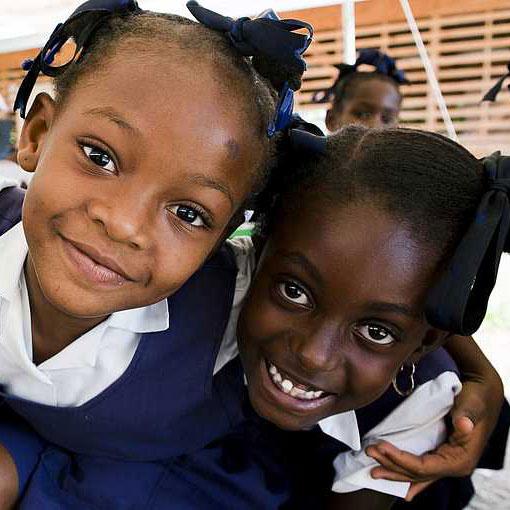 Hilfe weltweit:  Patenkinder auf Haiti