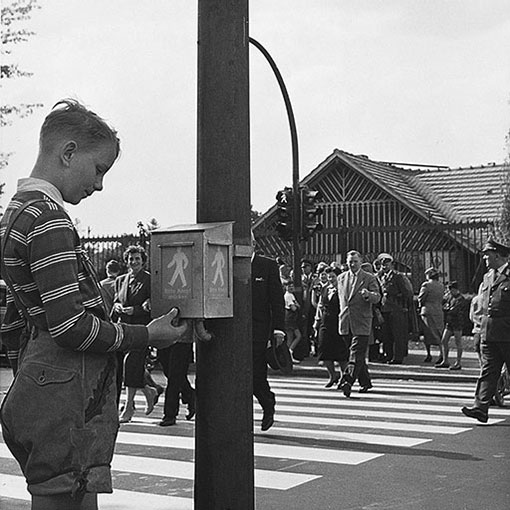 The history of pedestrian crossing lights