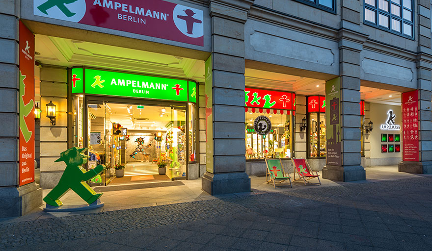 Flagship store unter den linden ampelmann berlin for Creative jobs berlin