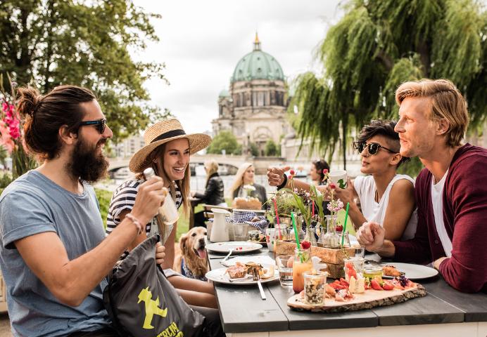 AMPELMANN Restaurant und Strandbar in Berlin Mitte - Ausblick