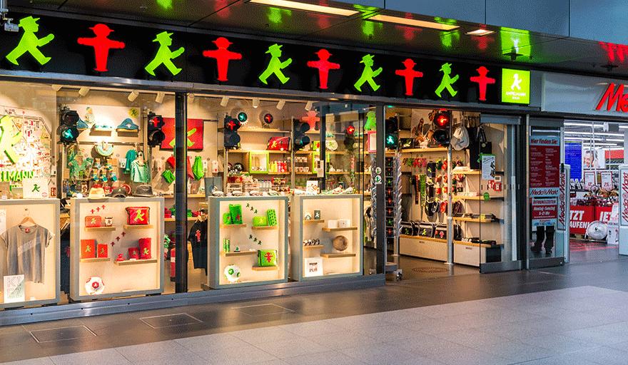AMPELMANN Berlin Souvenir Shop im Berliner Hauptbahnhof
