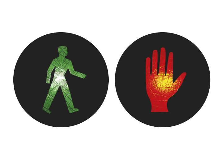 Internationale Ampelmännchen Bolivien