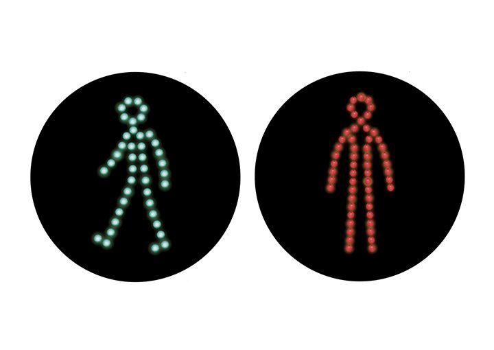Internationale Ampelmännchen Guadaloupe