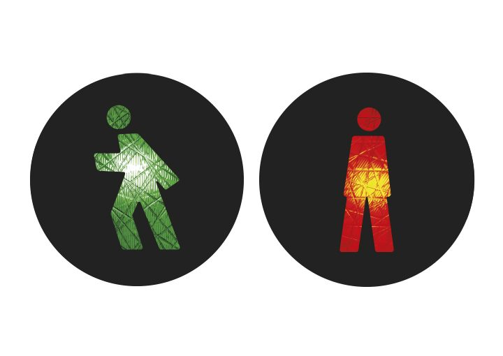 Internationale Ampelmännchen Monaco