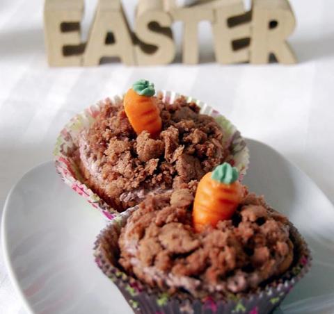Carrot-walnut muffins