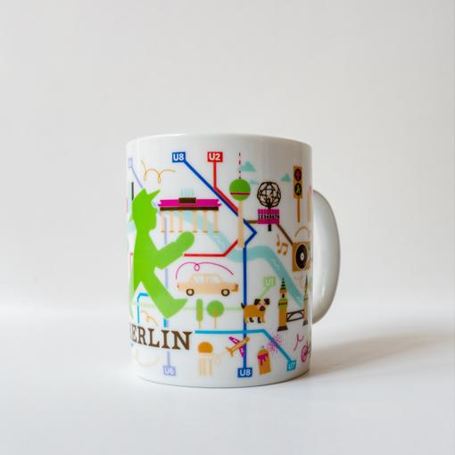 Mug with a Berlin motif