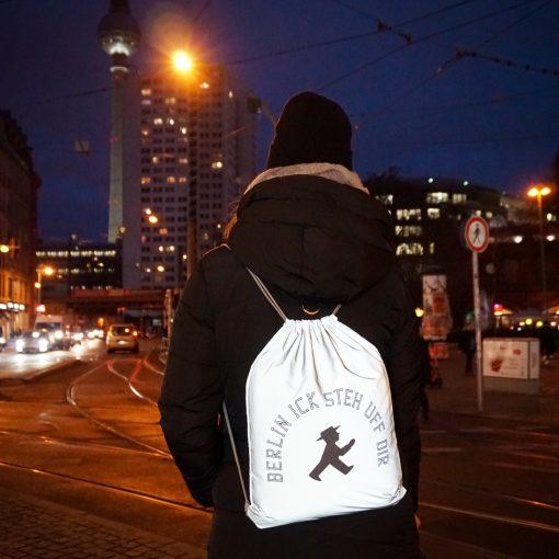 Sports bag fully reflective